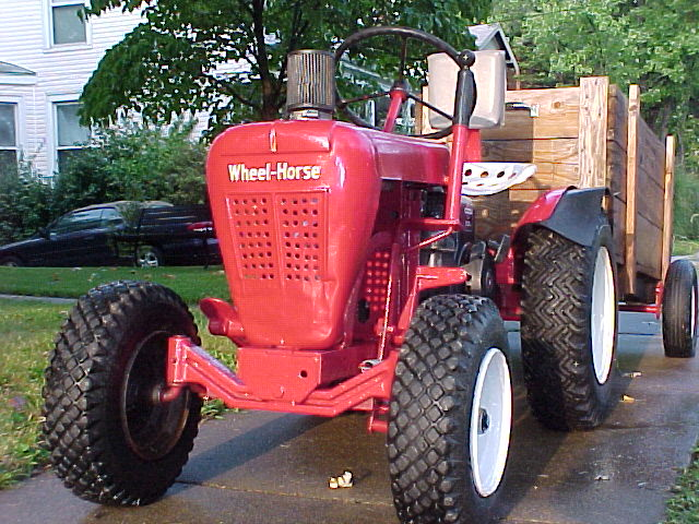 How do you find vintage Wheel Horse tractors?